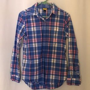 Girls Long sleeve plaid button down shirt